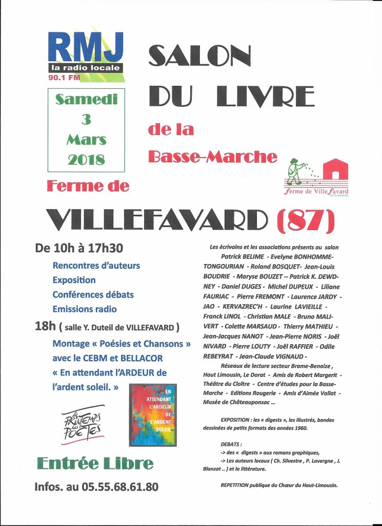 Villefavard salon du livre 2018 franck linol for Salon du the